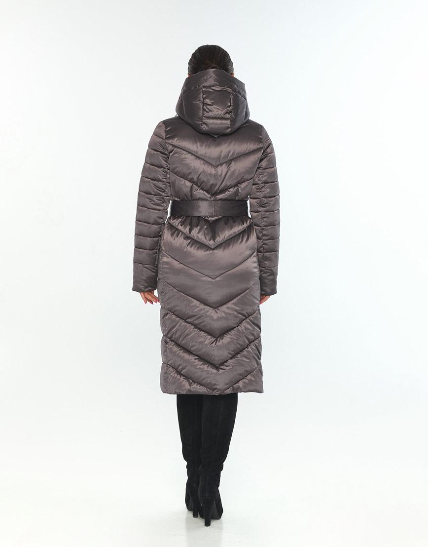 Стильная куртка большого размера женская Wild Club капучиновая 538-74 фото 3