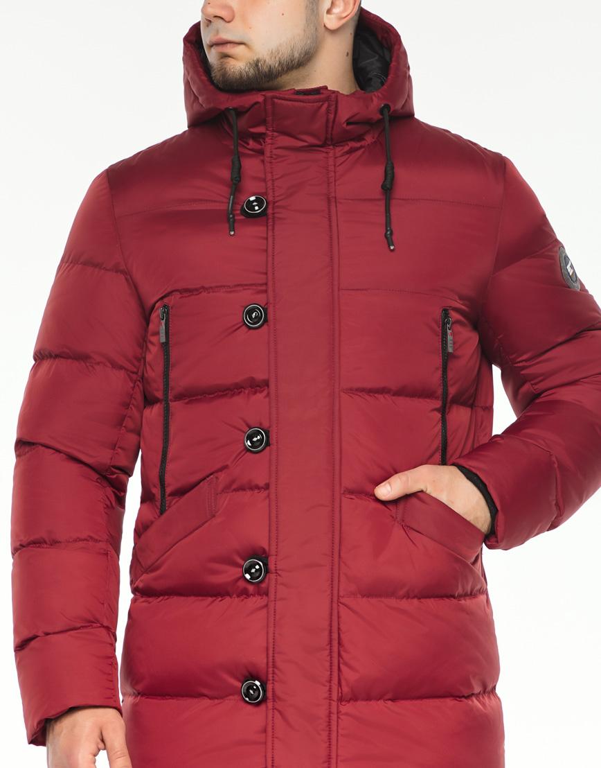 Зимняя красная куртка мужская модель 37485 оптом фото 5