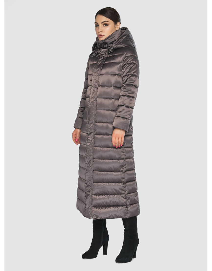 Подростковая стёганая куртка Wild Club на зиму капучиновая 524-65 фото 6