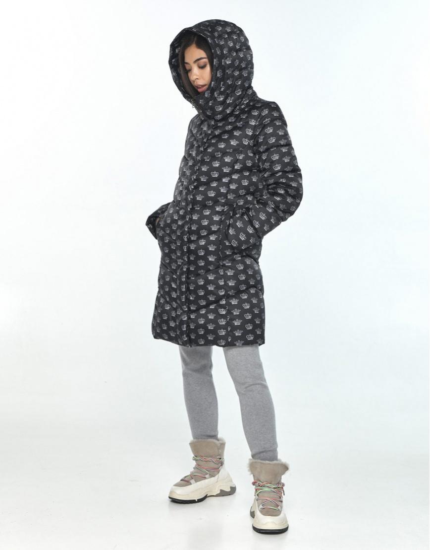 Куртка оригинальная подростковая Moc с рисунком зимняя M6540 фото 1
