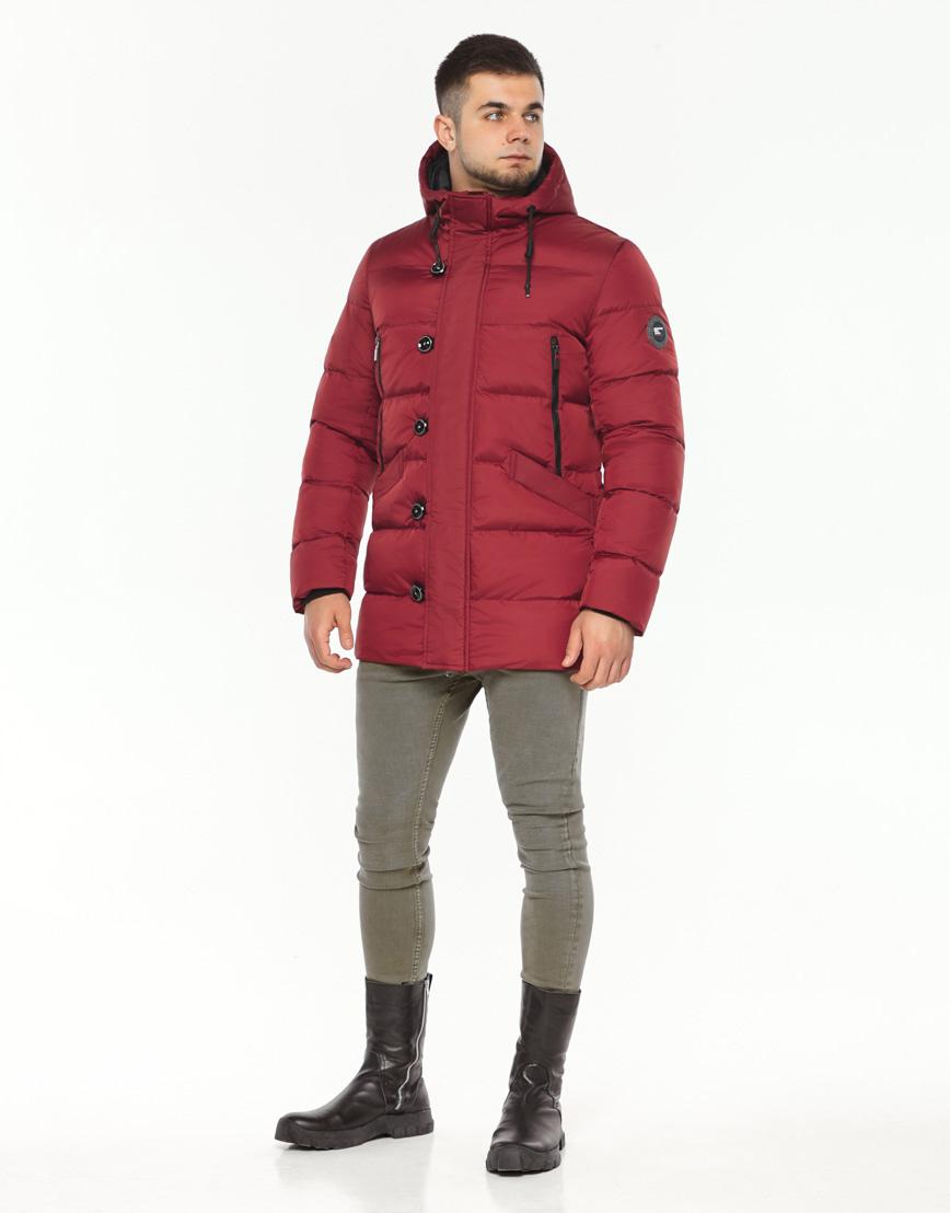 Зимняя красная куртка мужская модель 37485 оптом фото 3