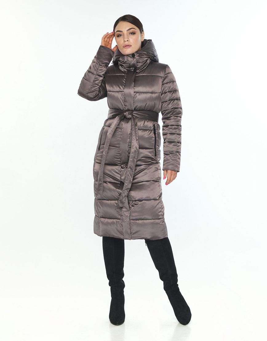 Стильная куртка большого размера женская Wild Club капучиновая 538-74 фото 1