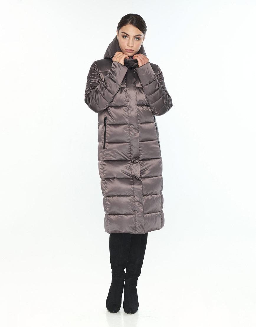 Стильная куртка большого размера женская Wild Club капучиновая 538-74 фото 2