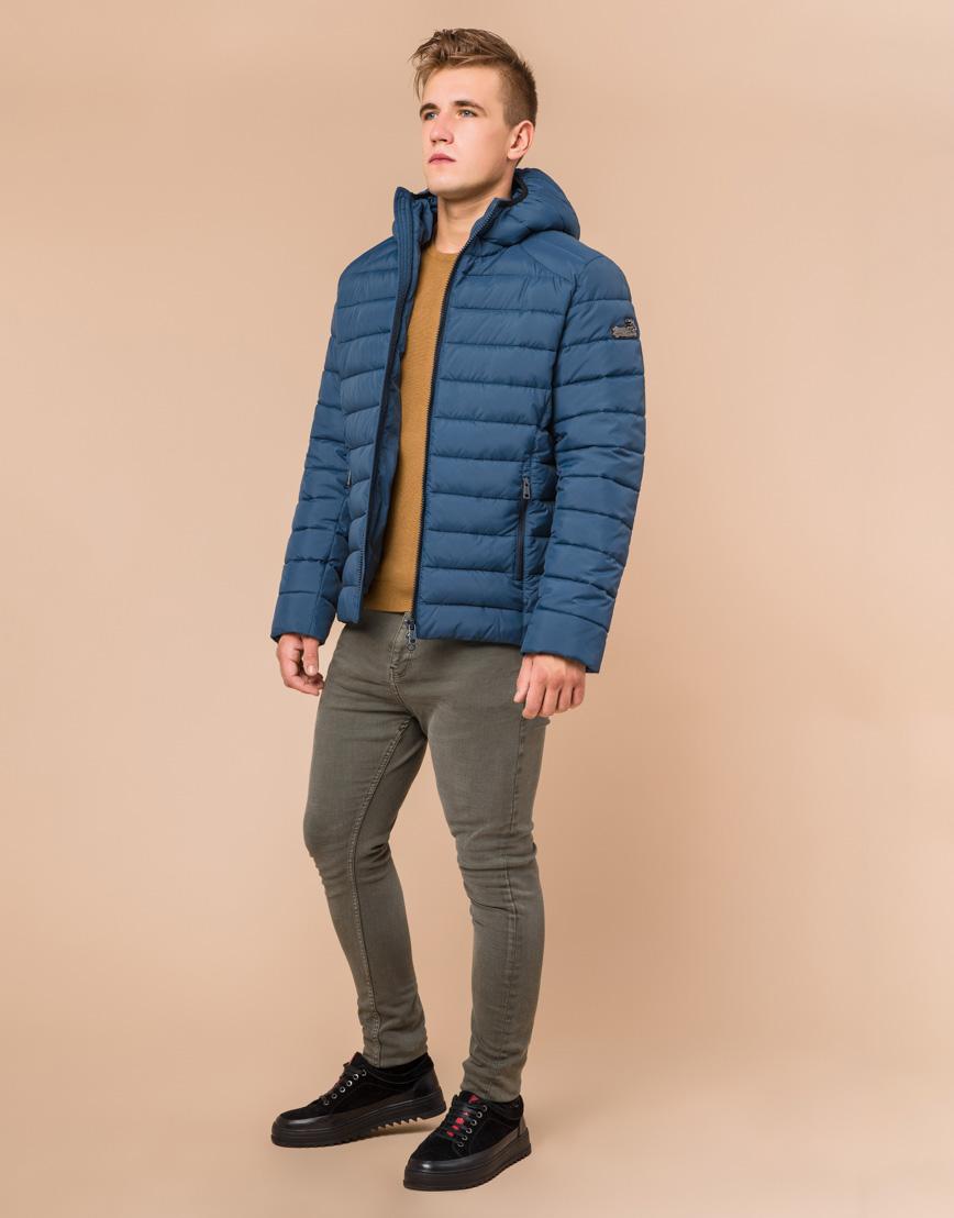 Куртка темно-бирюзовая мужская зимняя модель 40962 оптом
