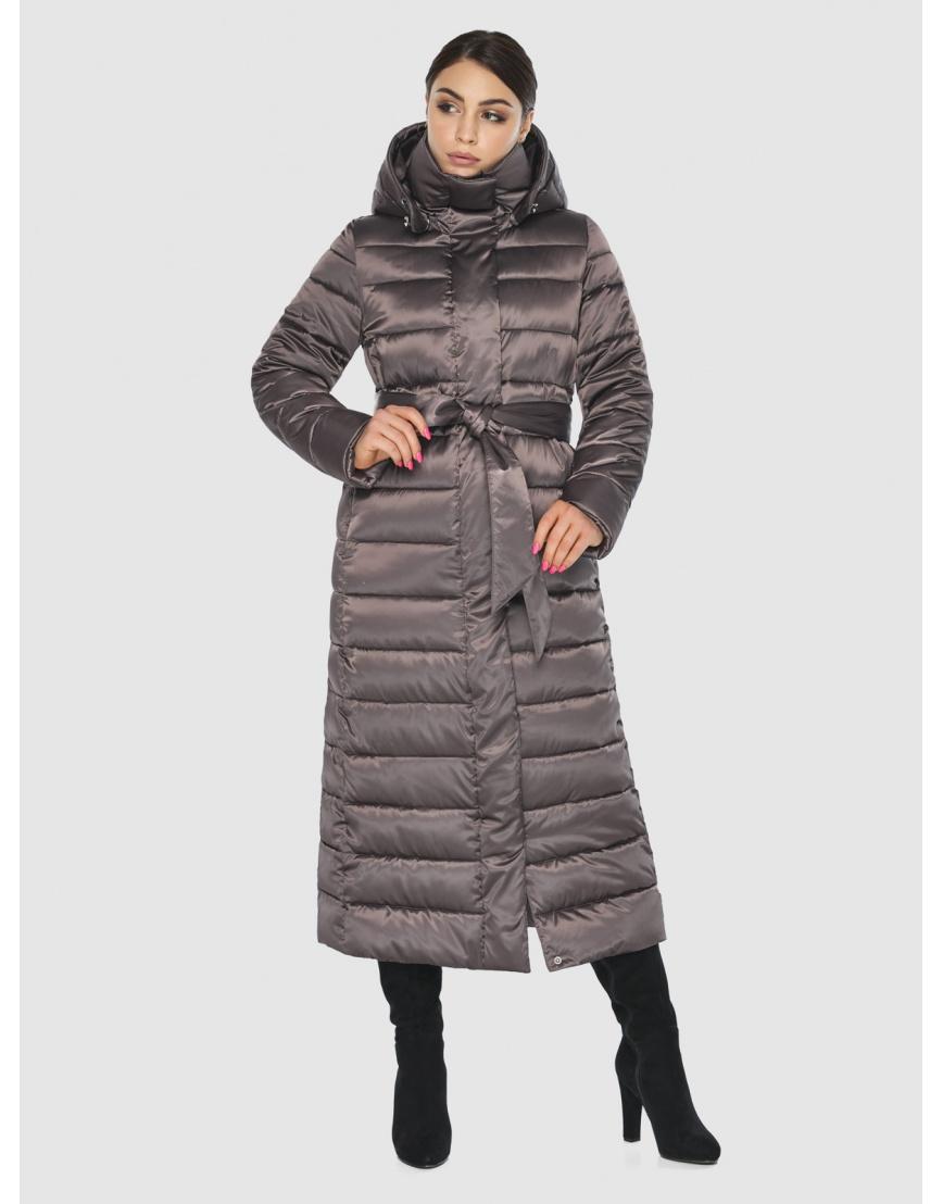 Подростковая стёганая куртка Wild Club на зиму капучиновая 524-65 фото 5