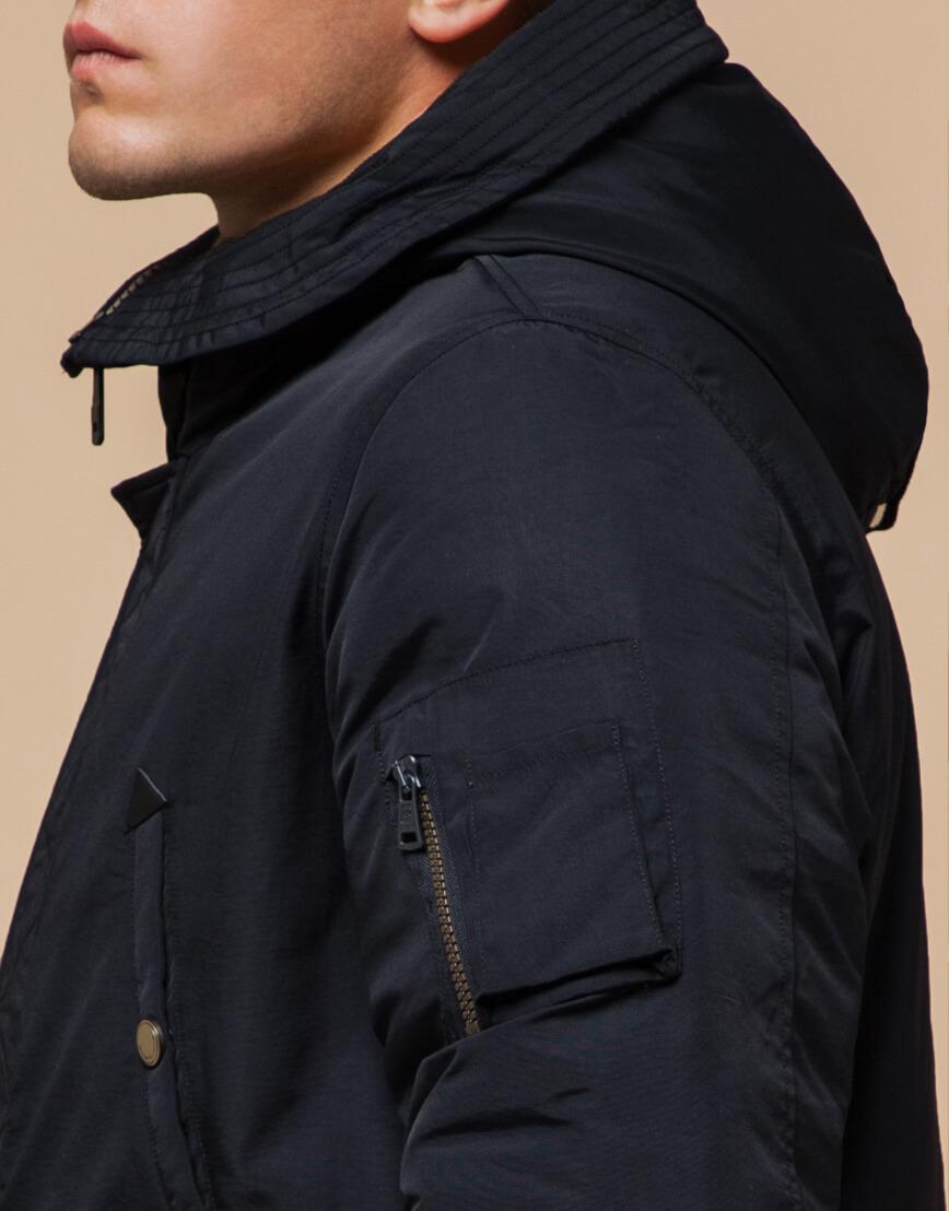 Черно-синяя зимняя парка стильного дизайна модель 90520 фото 6