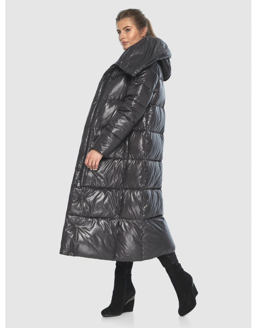 Подростковая зимняя куртка Ajento удлинённая серая 21550 фото 6