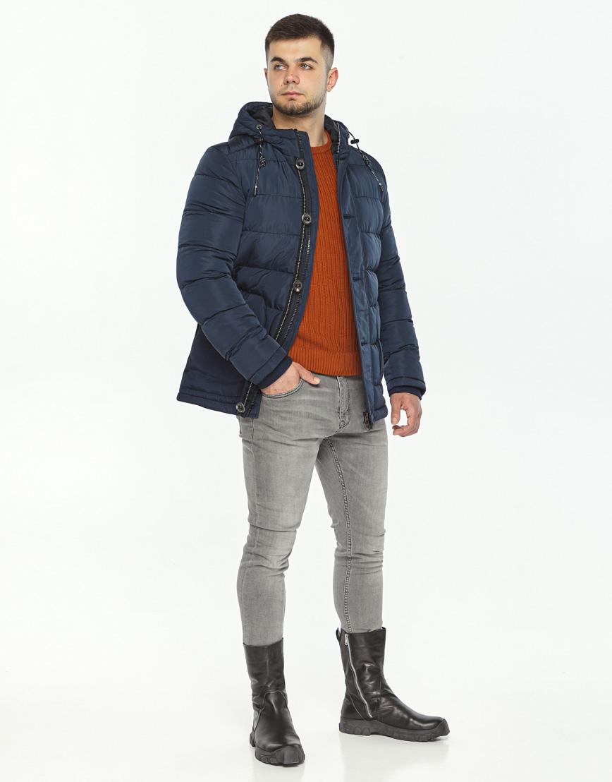 Синяя куртка на зиму мужская модель 44516 оптом