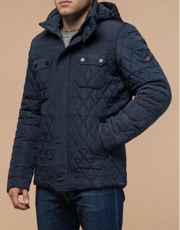 Брендовая светло-синяя куртка модель 1698 фото 1