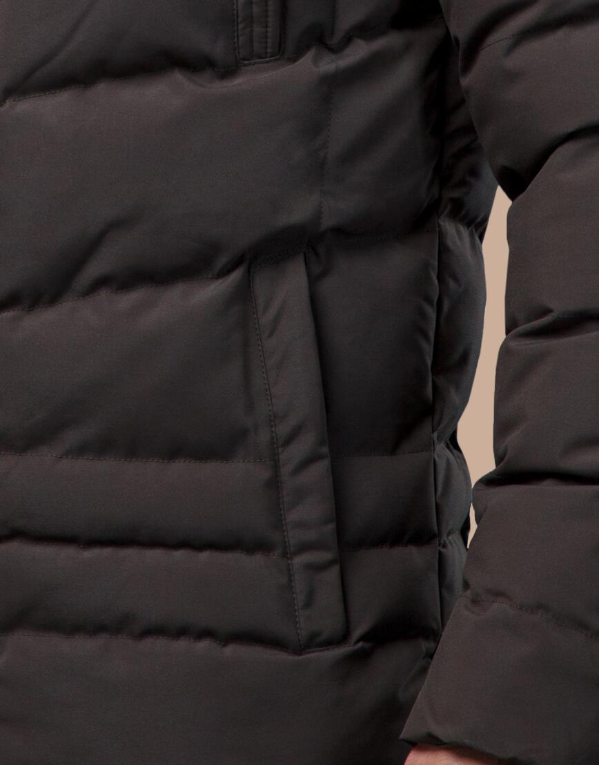 Куртка высококачественная зимняя цвета кофе модель 25370 фото 6