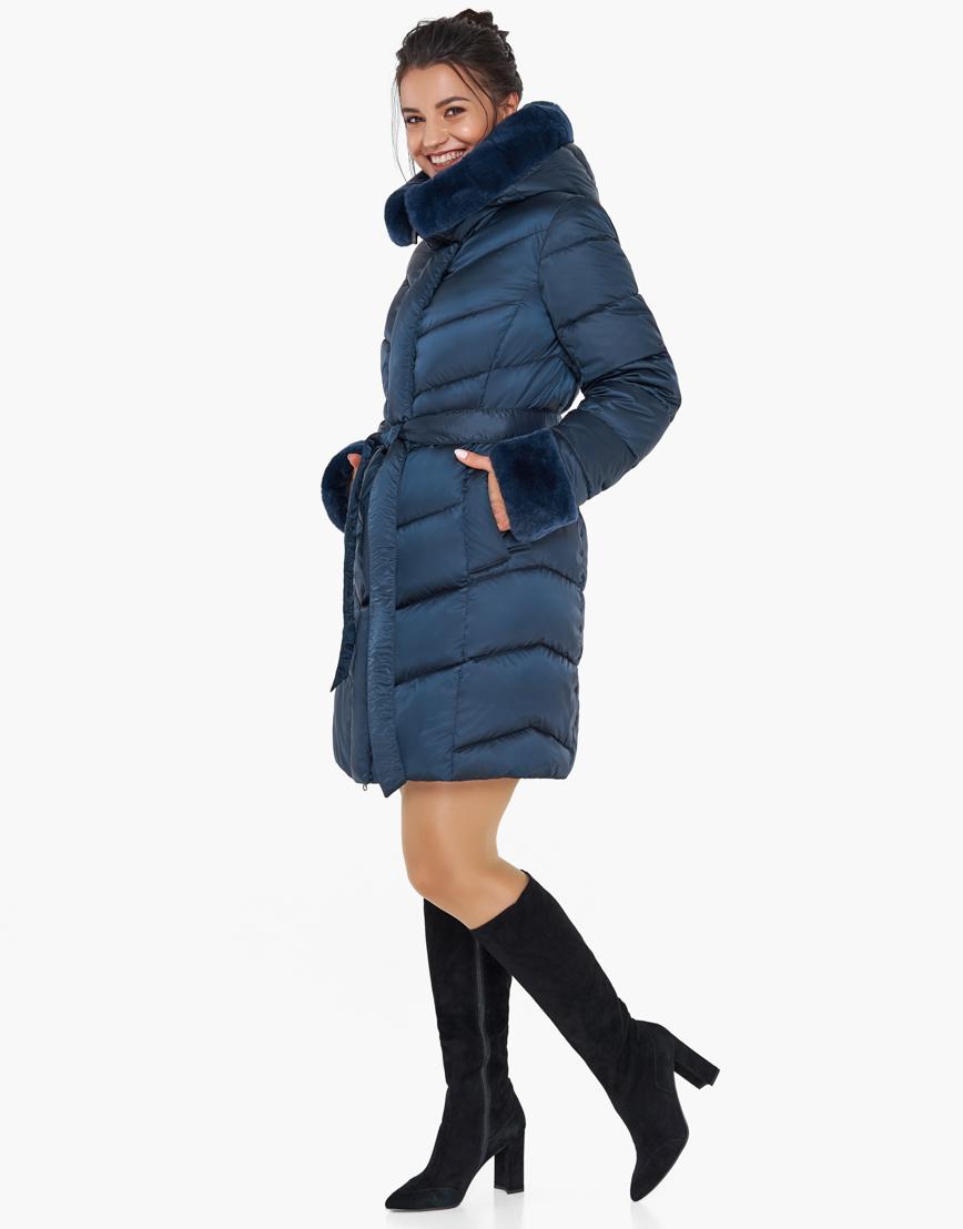 Воздуховик Braggart синий женский зимний брендовый модель 31068