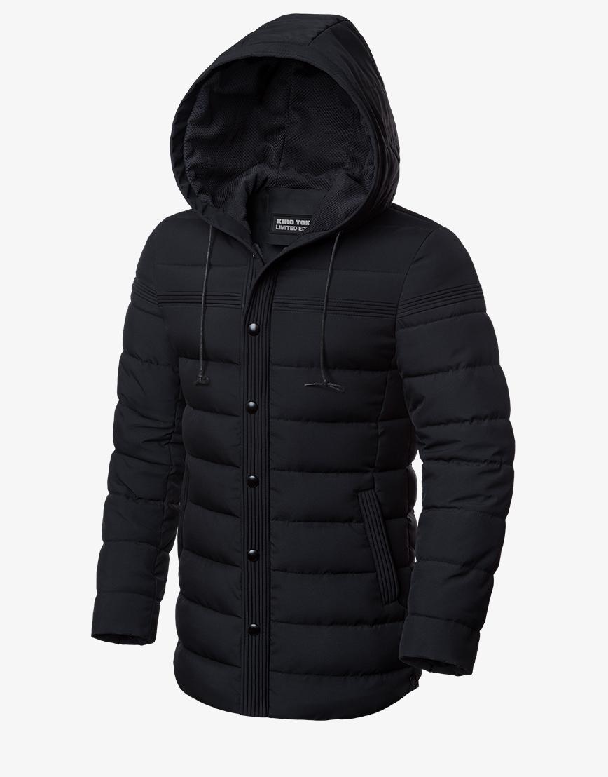 Стильная зимняя куртка черная модель 8806 фото 1
