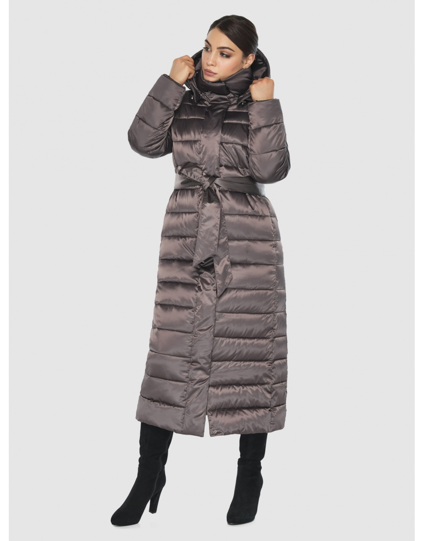 Подростковая стёганая куртка Wild Club на зиму капучиновая 524-65 фото 1