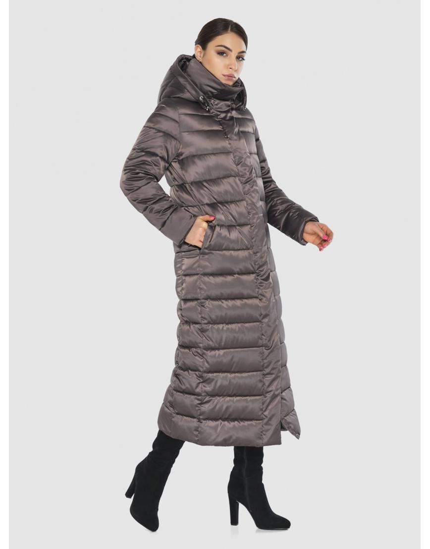 Подростковая стёганая куртка Wild Club на зиму капучиновая 524-65 фото 3