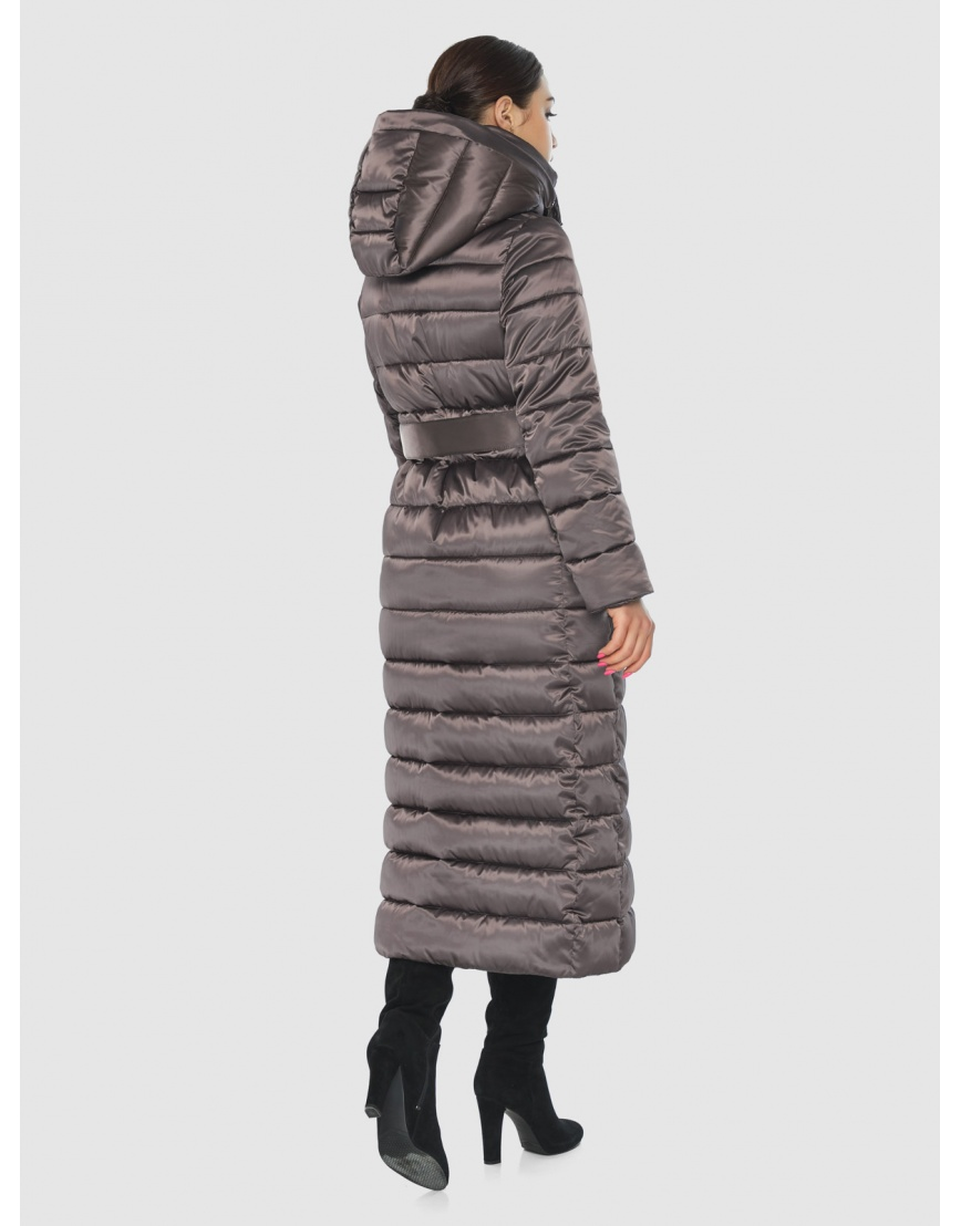 Подростковая стёганая куртка Wild Club на зиму капучиновая 524-65 фото 4