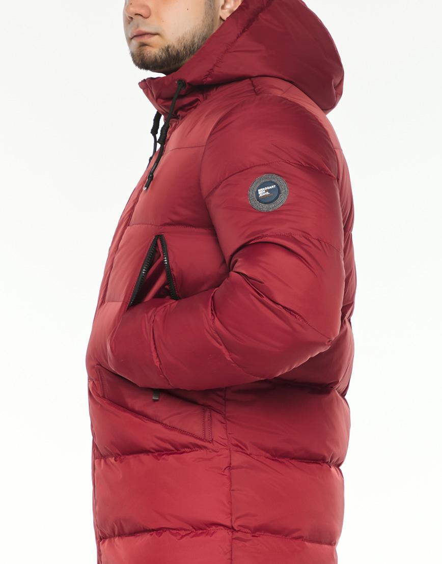 Зимняя красная куртка мужская модель 37485 оптом фото 6