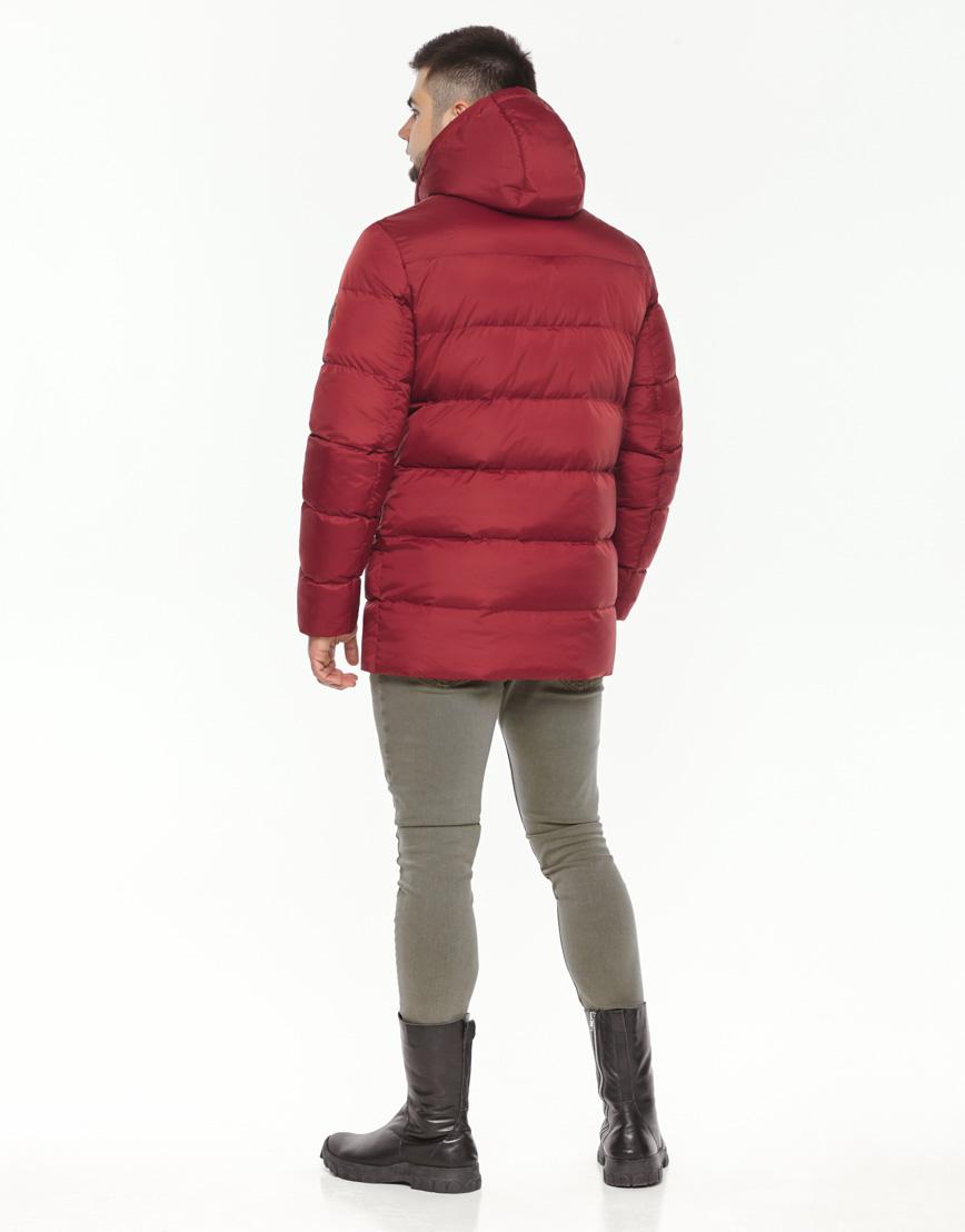 Зимняя красная куртка мужская модель 37485 оптом фото 4