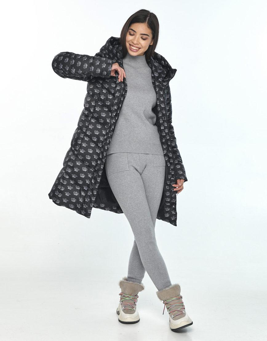 Куртка оригинальная подростковая Moc с рисунком зимняя M6540 фото 2