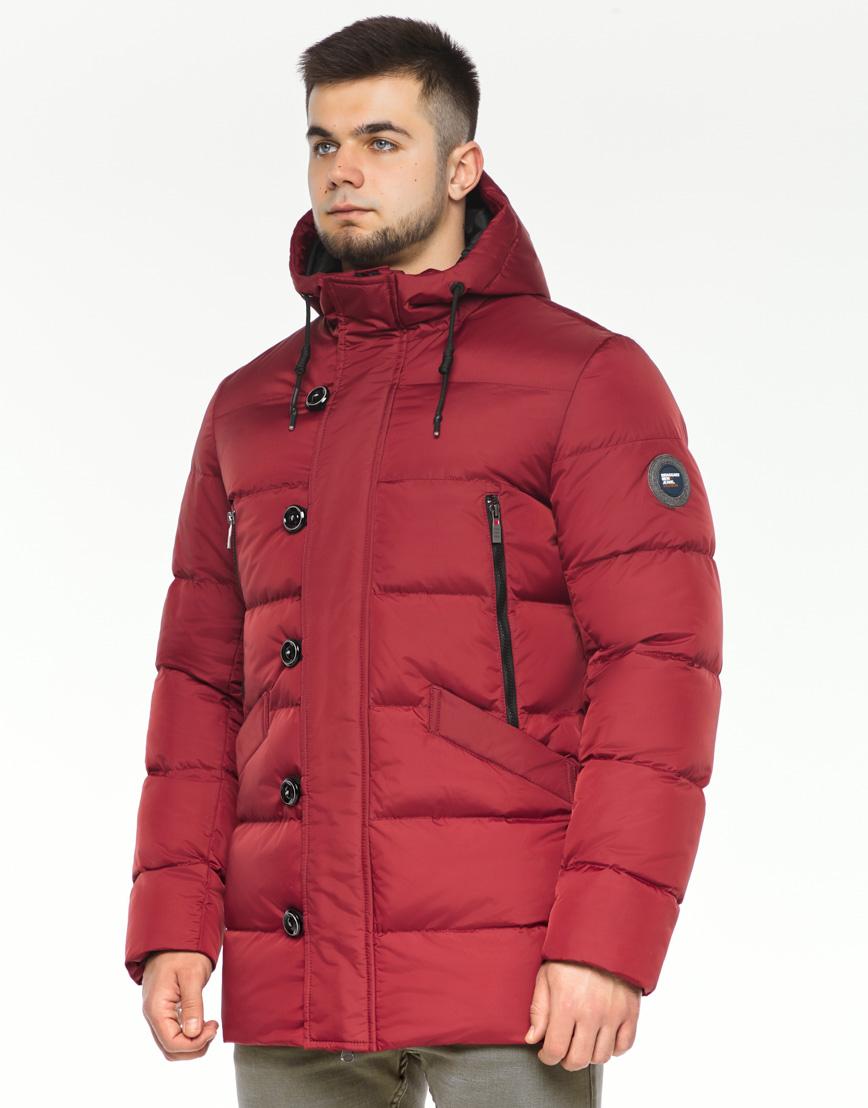 Зимняя красная куртка мужская модель 37485 оптом фото 1