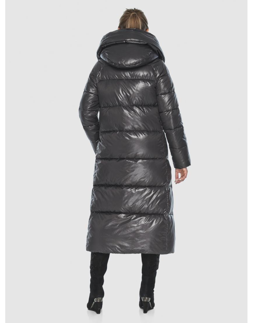 Подростковая зимняя куртка Ajento удлинённая серая 21550 фото 4