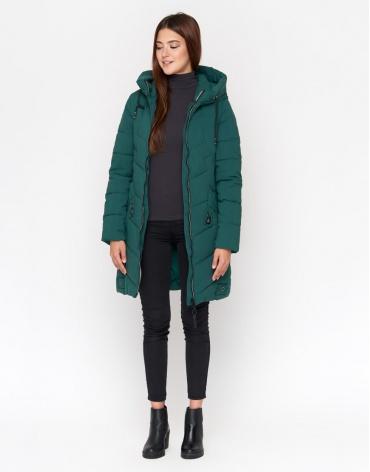 Зеленая зимняя куртка женская модель 806
