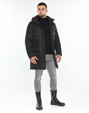 Удобная куртка черная стильного дизайна модель 26350 фото 1