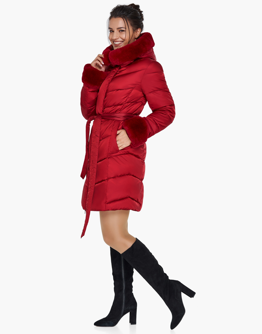 Женский модный воздуховик зимний Braggart рубиновый модель 31068 фото 1