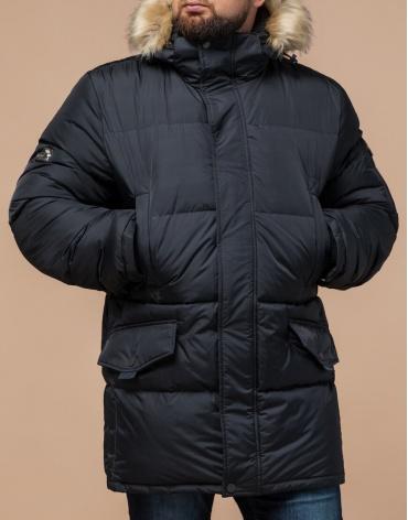 Куртка мужская большого размера графитовая модель 2084 фото 1