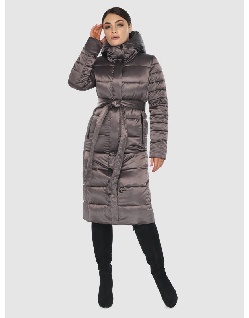 Стильная подростковая куртка Wild Club капучиновая зимняя 538-74 фото 6