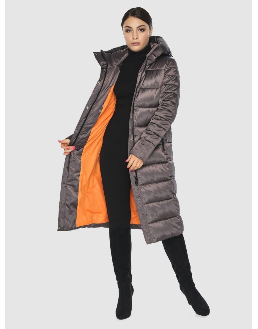 Стильная подростковая куртка Wild Club капучиновая зимняя 538-74 фото 2