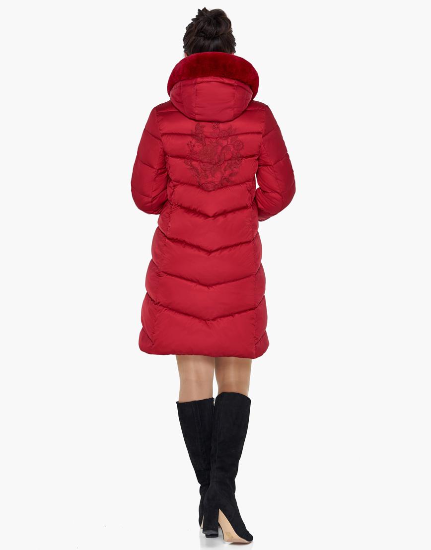Женский модный воздуховик зимний Braggart рубиновый модель 31068 фото 6