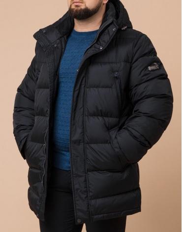 Куртка большого размера практичная цвет черный модель 13362 фото 1