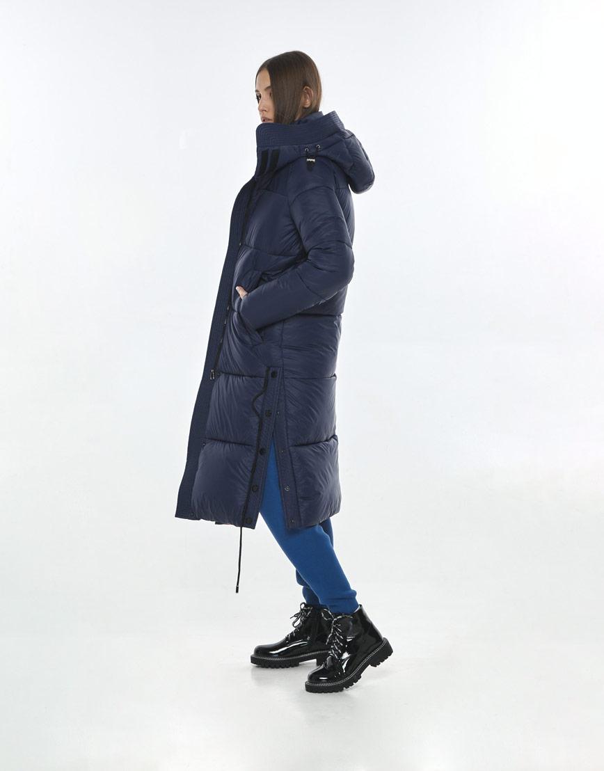 Синяя стильная куртка Vivacana женская 7654/21 фото 3