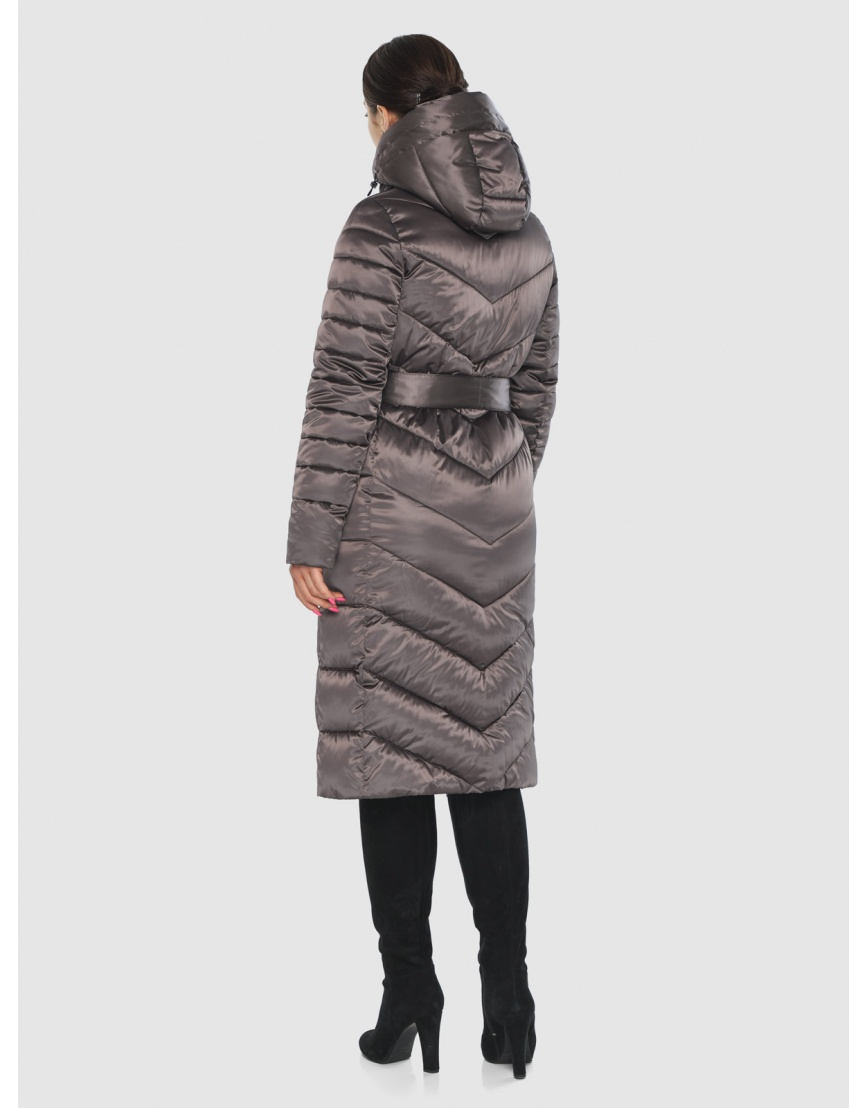 Стильная подростковая куртка Wild Club капучиновая зимняя 538-74 фото 4