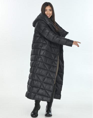 Куртка модная на подростка чёрная Moc зимняя M6715 фото 1
