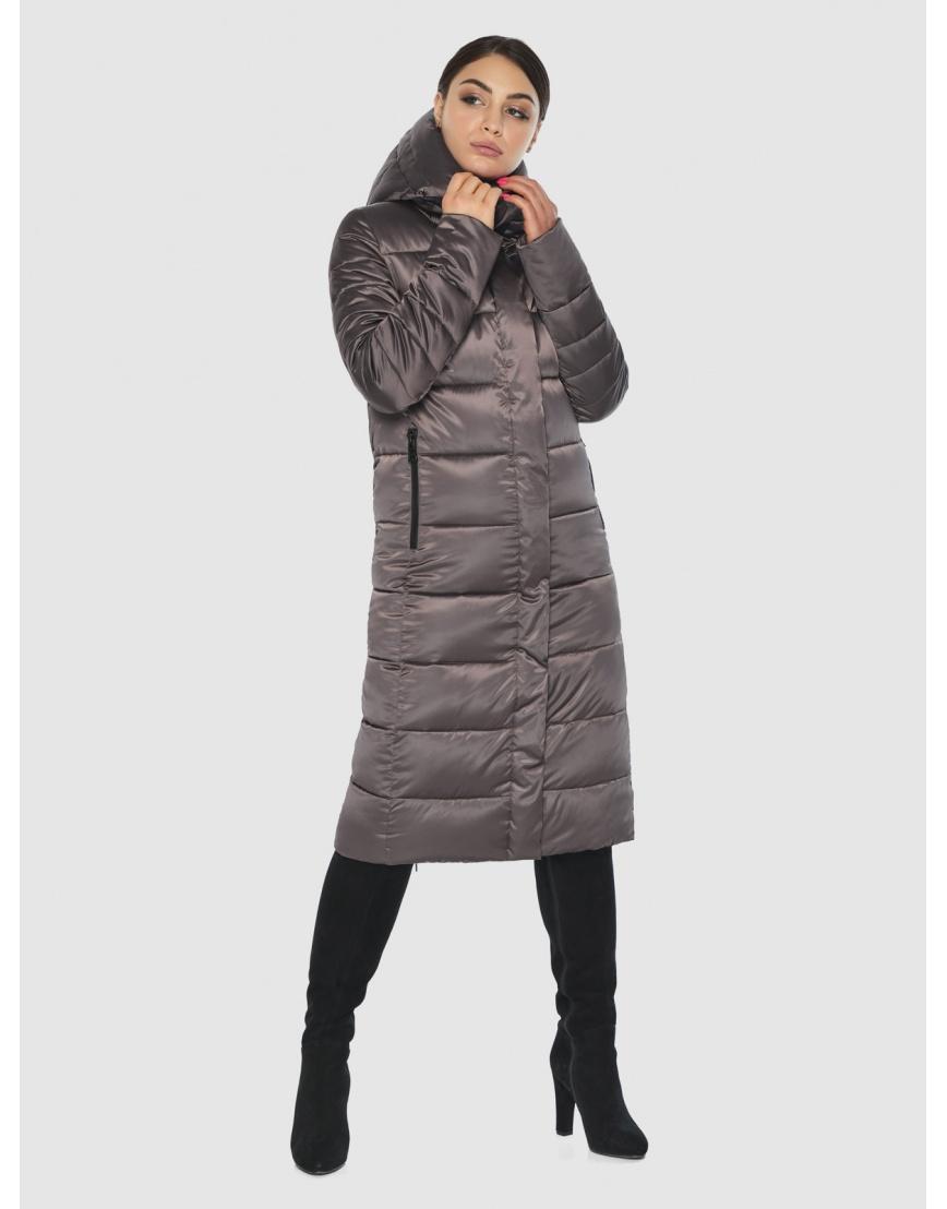 Стильная подростковая куртка Wild Club капучиновая зимняя 538-74 фото 1