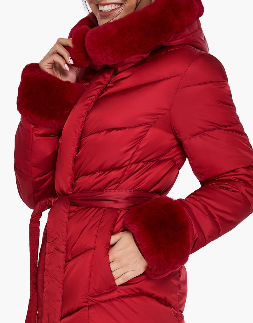 Женский модный воздуховик зимний Braggart рубиновый модель 31068 фото 7
