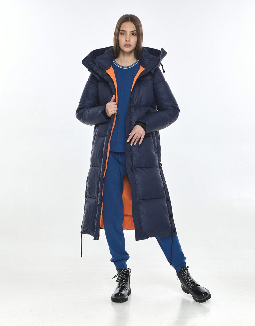 Синяя стильная куртка Vivacana женская 7654/21 фото 1