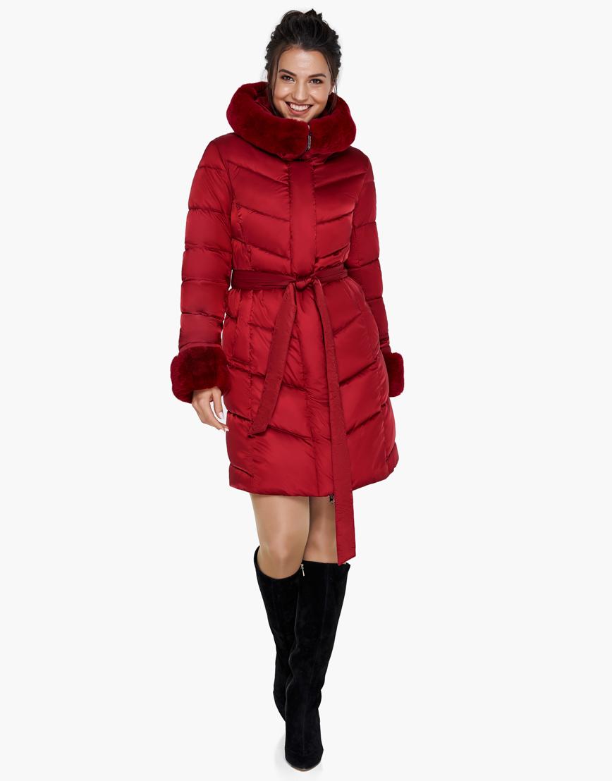 Женский модный воздуховик зимний Braggart рубиновый модель 31068 фото 2