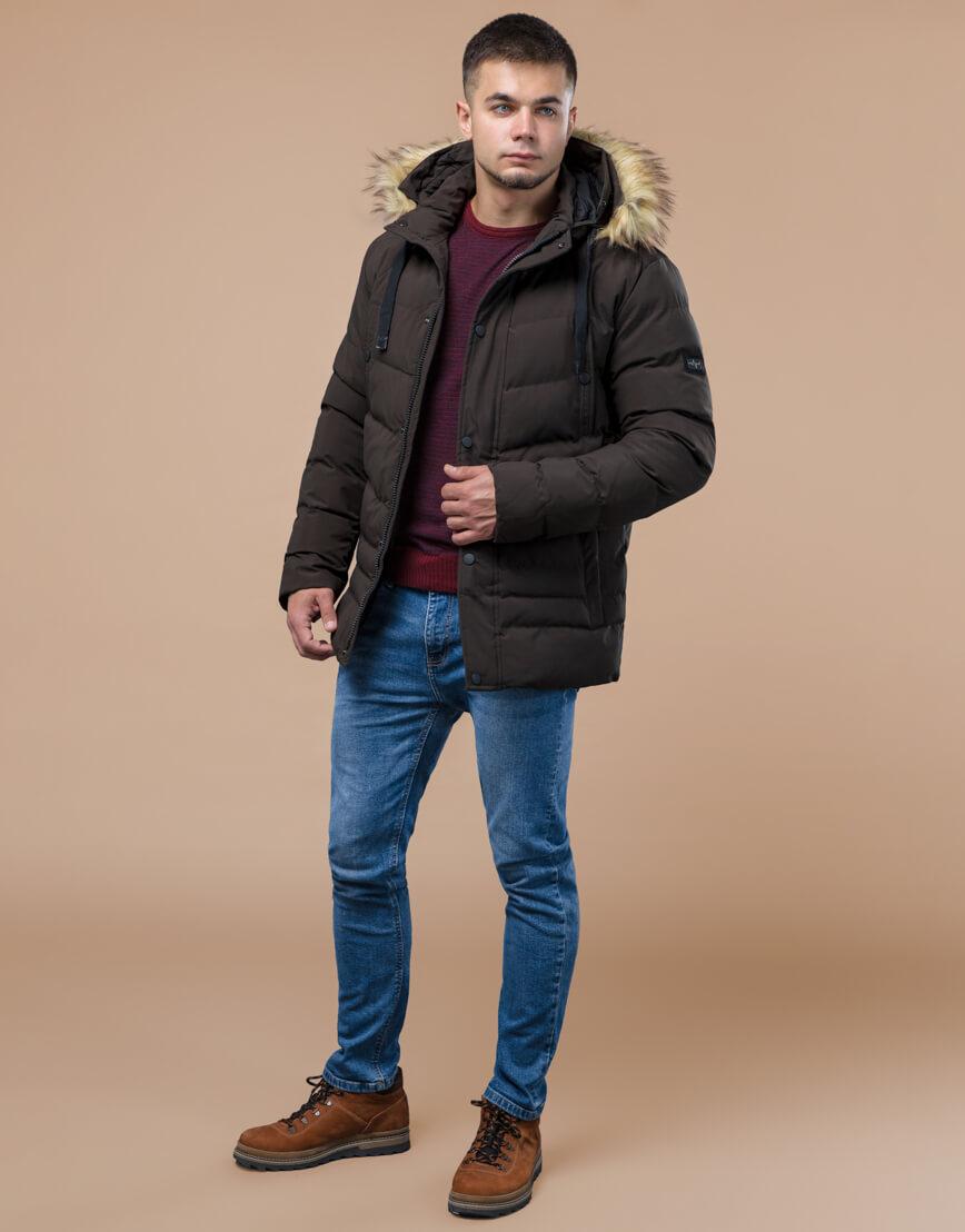 Подростковая куртка цвета кофе модель 25370 оптом