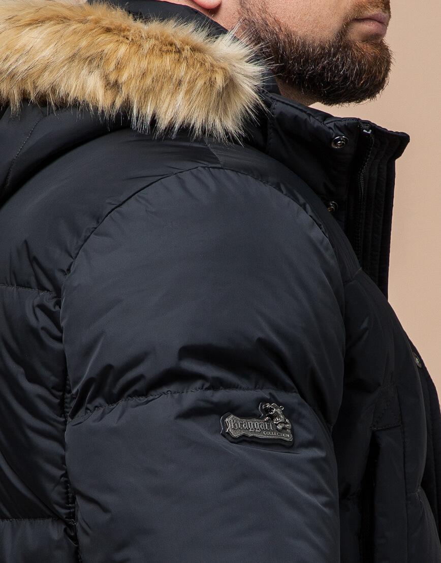 Куртка мужская большого размера графитовая модель 2084 фото 6