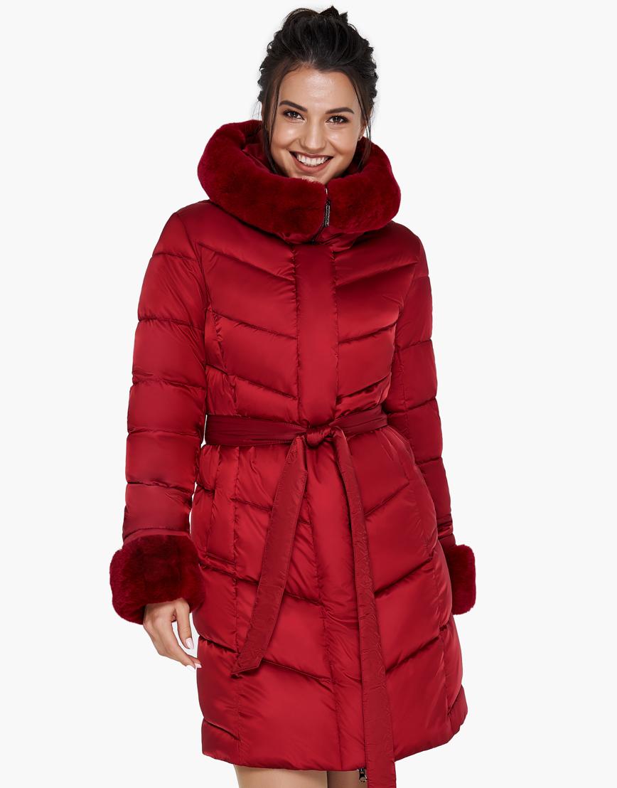 Женский модный воздуховик зимний Braggart рубиновый модель 31068 фото 4