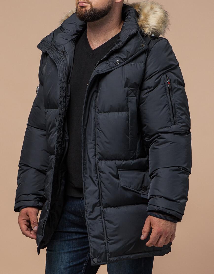 Куртка мужская большого размера графитовая модель 2084 фото 2