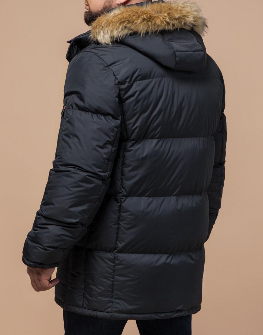 Куртка мужская большого размера графитовая модель 2084 фото 3