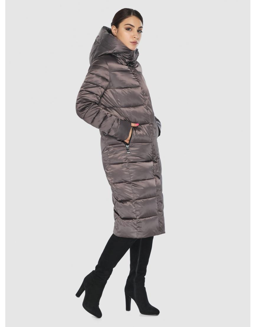 Стильная подростковая куртка Wild Club капучиновая зимняя 538-74 фото 5