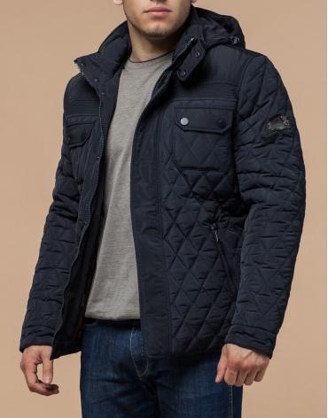 Оригинальная куртка темно-синяя зимняя модель 1698 фото 1