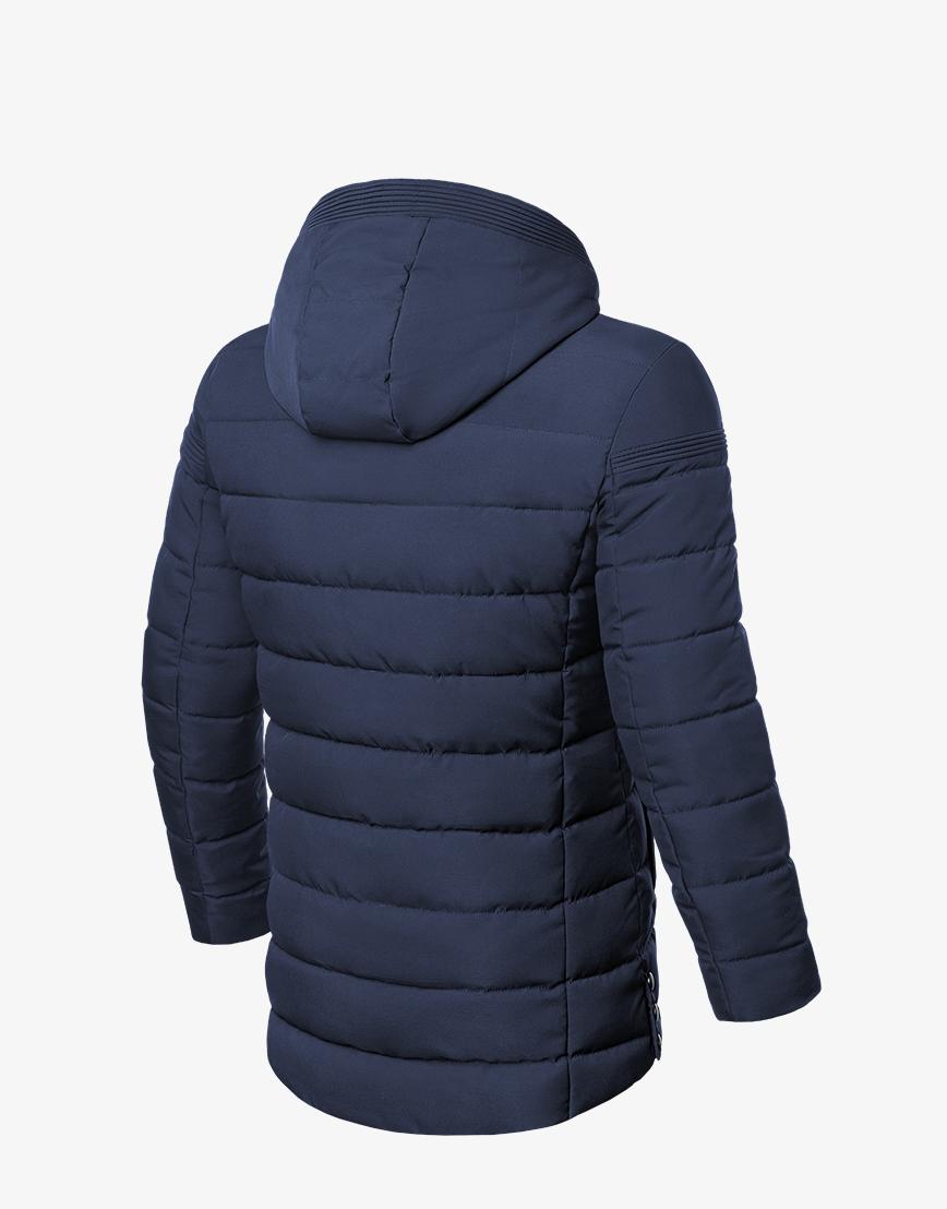 Зимняя оригинальная куртка темно-синяя модель 8806 фото 2