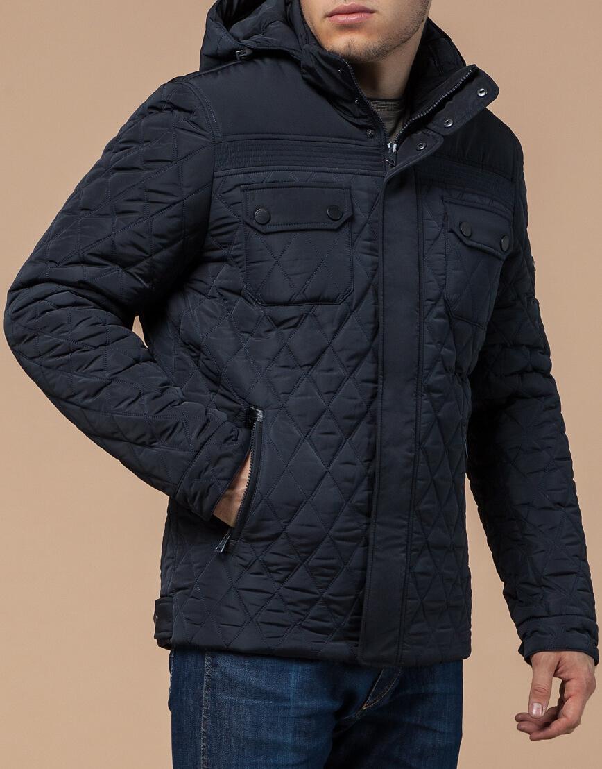 Оригинальная куртка темно-синяя зимняя модель 1698 фото 2