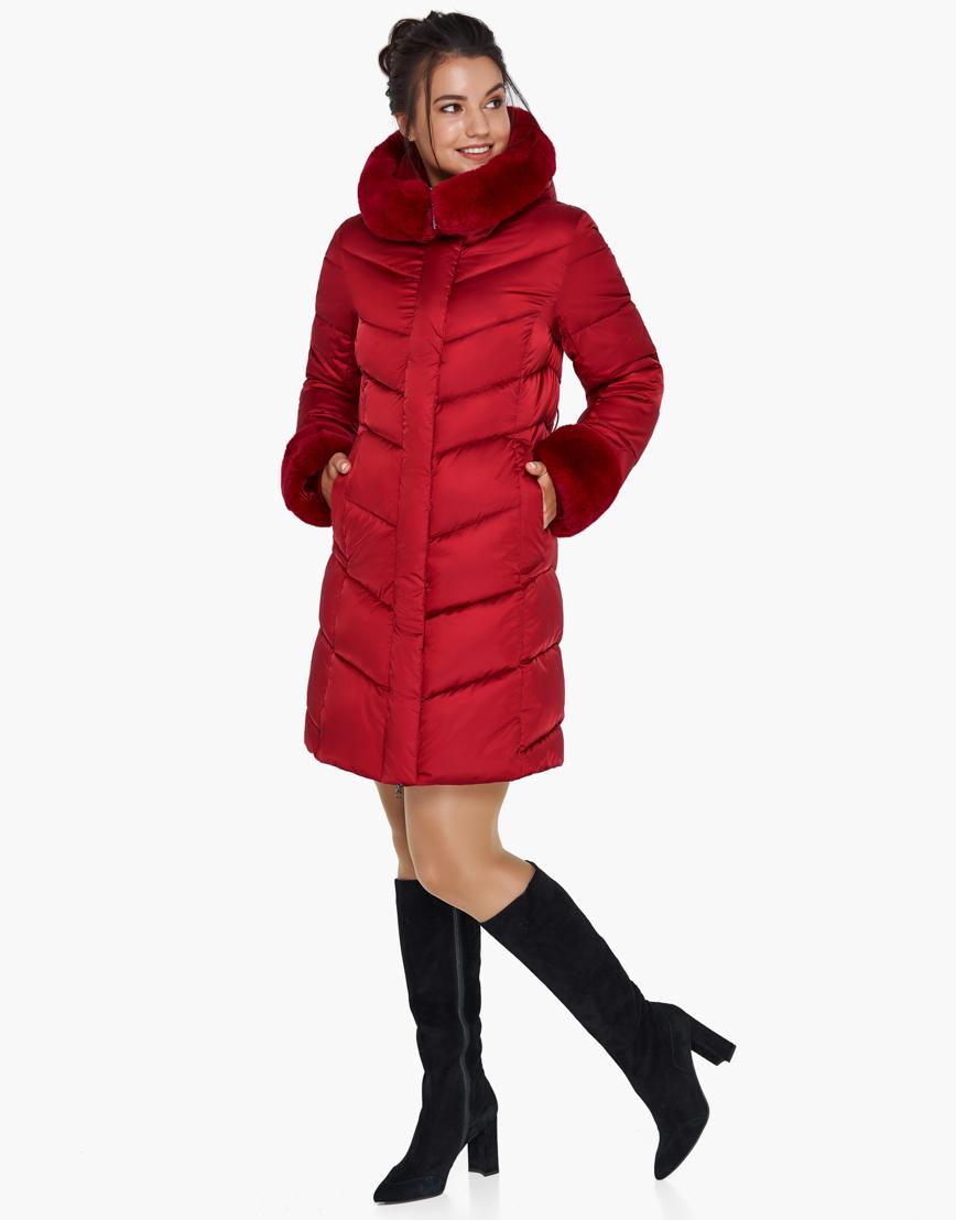 Женский модный воздуховик зимний Braggart рубиновый модель 31068 фото 5