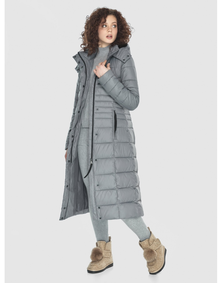 Куртка женская Moc серого цвета M6430 фото 6